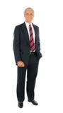 De zakenman met dient zak in Stock Afbeelding