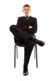 De zakenman op de stoel Royalty-vrije Stock Foto's