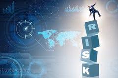 De zakenman in risico en belonings bedrijfsconcept stock illustratie
