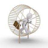 De zakenman stelt een futiele race in werking stock illustratie