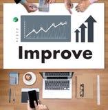 De zakenman Success Increase Improve Uw Vaardigheden en maakt ding royalty-vrije stock foto