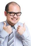 De zakenman toont duim Stock Foto's