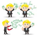 De zakenman toont financiëngeld Stock Foto's