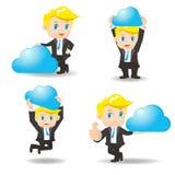 De zakenman toont wolk gegevensverwerkingstechnologie Royalty-vrije Stock Fotografie