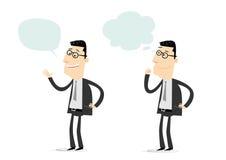 Het spreken en het Benieuwd zijn Reeks vector illustratie