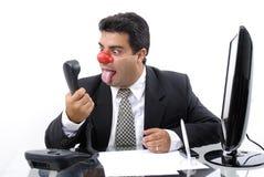 De Zakenman van de clown Stock Afbeeldingen