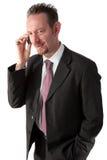 De Zakenman van de sik op de Telefoon Royalty-vrije Stock Fotografie