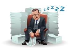 De zakenman van de slaap royalty-vrije illustratie