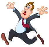 De zakenman van Panicked Royalty-vrije Stock Afbeelding