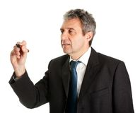 De zakenman wringt een schets royalty-vrije stock fotografie