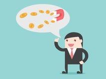 De zakenmanidee van het magneetgeld royalty-vrije illustratie
