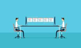 de zakenrelatie zich ontwikkelen en de onderhoudstoepassing Stock Afbeelding