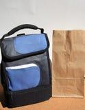 De zakken van de lunch op bureau Royalty-vrije Stock Foto