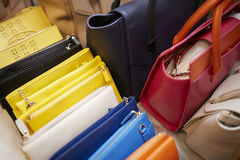 De zakken van de modeshowcoulisse het plaatsen Stock Afbeelding