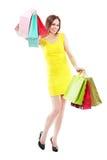 De zakken van de vrouwenholding stock foto's