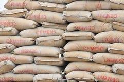 De zakken van het cement Stock Afbeelding