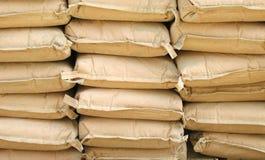 De Zakken van het cement Stock Foto