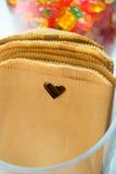De Zakken van het hart Pakpapier Stock Afbeelding