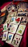De zakken van het weefsel van handwork Royalty-vrije Stock Afbeelding