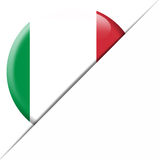 De Zakvlag van Italië Stock Foto's
