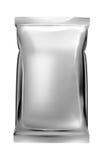 De zakvlakte van de aluminiumfolie Stock Afbeeldingen