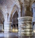 De Zalen van ridders bij oude stad van acre royalty-vrije stock afbeelding