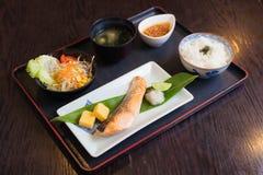 De zalm roosterde Japans voedsel Stock Afbeelding