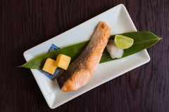 De zalm roosterde Japans voedsel Royalty-vrije Stock Foto's