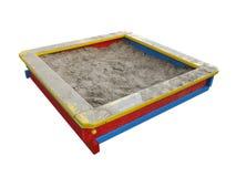 De zandbak van kinderen Stock Foto