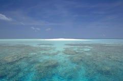 De zandbank van de Maldiven stock afbeelding