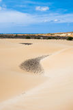 De zandduinen in Viana verlaten - Deserto DE Viana in Boavista - Kaap Royalty-vrije Stock Afbeeldingen
