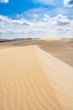 De zandduinen in Viana verlaten - Deserto DE Viana in Boavista - Kaap Royalty-vrije Stock Foto's