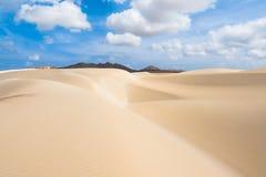 De zandduinen in Viana verlaten - Deserto DE Viana in Boavista - Kaap Stock Fotografie