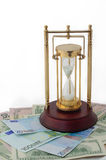 De zandloper, tijd loopt uit Royalty-vrije Stock Afbeeldingen