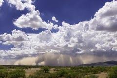 De Zandstorm van Arizona Haboob van een Afstand royalty-vrije stock foto's