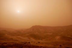 De zandstorm van de woestijn stock afbeelding