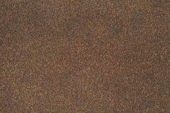 De zandtextuur van rubberoid, asfalteert macroachtergrond Royalty-vrije Stock Afbeelding
