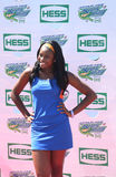 De zanger Coco Jones woont Arthur Ashe Kids Day 2013 in Billie Jean King National Tennis Center bij Royalty-vrije Stock Foto's