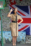De zanger van de de zusters 1940 hulde van Andrew Royalty-vrije Stock Foto