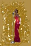 De zanger van de jazz Stock Afbeelding