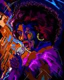 De zanger van de jazz Stock Fotografie