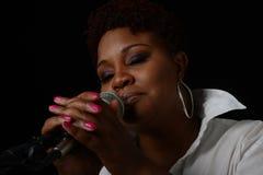 De zanger van de jazz Stock Foto