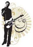 De zanger van de rots vector illustratie