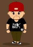De zangerster van de punk rockband Stock Fotografie