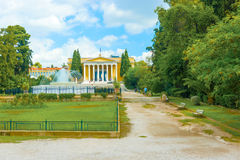 De Zappeion megaron neoklassieke bouw in Athene Griekenland Stock Foto