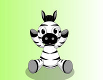 De zebra van de baby Stock Afbeelding