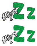 De zebra van de brief Z Stock Foto's
