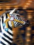 De Zebra van de carrousel Stock Foto