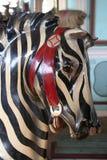 De Zebra van de carrousel Stock Fotografie