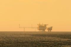 De zee Centrale Platforms van de Verwerkingsproductie voor Olie en Gas Royalty-vrije Stock Afbeelding